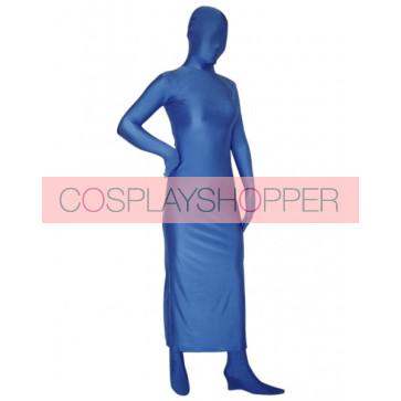 Blue Full-Body Lycra Spandex Unisex Zentai Suit