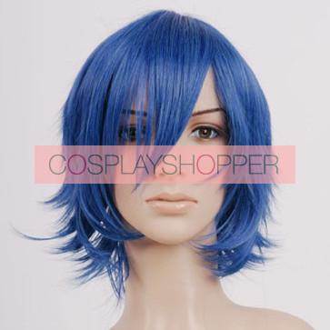 Blue Iku Mizushima Cosplay Wig