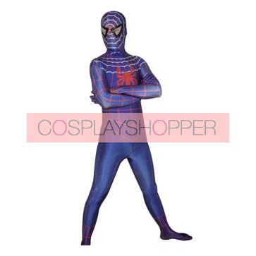 Blue Lycra Spandex Spiderman Zentai Suit