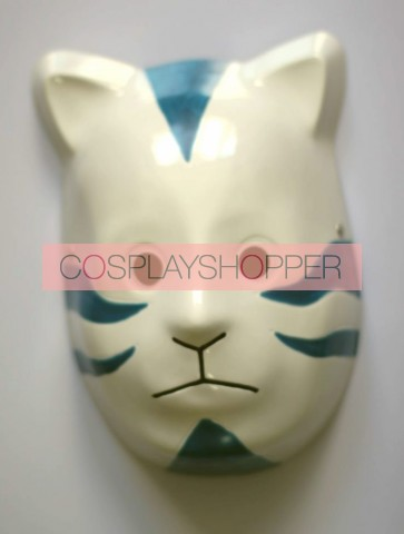 Blue Naruto Anbu Cat PVC Cosplay Mask
