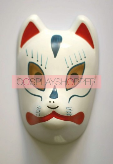 Blue Naruto Anbu Fox PVC Cosplay Mask