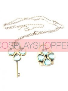 Blue Shugo Chara! Alloy Cosplay Key Necklace