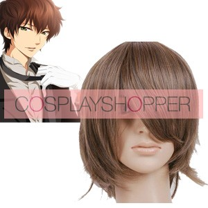 Brown 32cm Code Geass Kururugi Suzaku Cosplay Wig