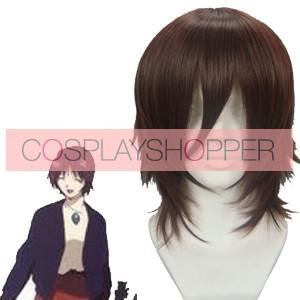 Brown 32cm Neon Genesis Evangelion Ikari Yui Cosplay Wig