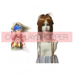 Brown 60cm Final Fantasy X-2 Rikku Cosplay Wig