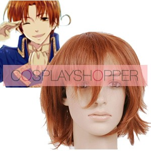 Brown Red 32cm Axis Powers Hetalia Feliciano Vargas Cosplay Wig