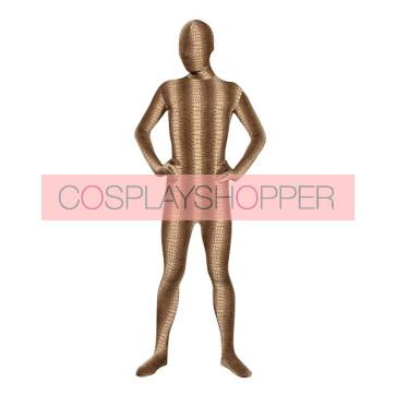 Brown Snakeskin Lycra Spandex Unisex Zentai Suit