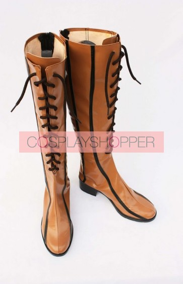 Brown Vocaloid Cosplay Boots