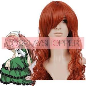 Brownish Red 90cm Rozen Maiden Suiseiseki Nylon Cosplay Wig