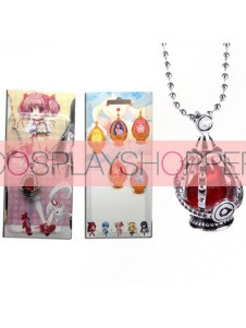 Red Puella Magi Madoka Magica Cosplay Pendant Necklace