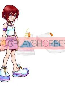 Kingdom Hearts Kairi Imitation Leather Cosplay Shoes