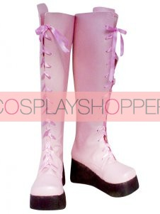 Kingdom Hearts II Yuna Imitation Leather Cosplay Boots