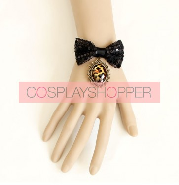 Charming Black Bow Lady Lolita Wrist Strap