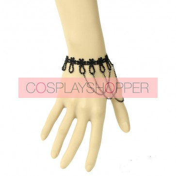 Charming Black Metal Chain Girls Lolita Wrist Strap