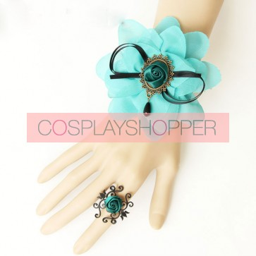 Charming Floral Western Style Girls Lolita Bracelet And Ring Set