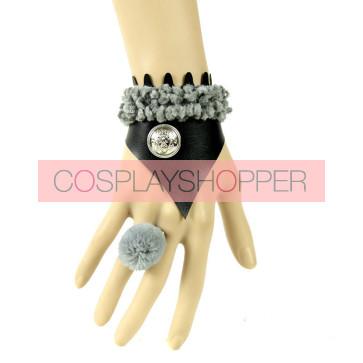 Charming Leather Button Fashion Lady Handmade Lolita Wrist Strap
