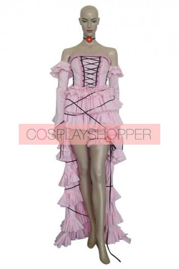 Chobits Chii Pink Cosplay Costume Dress