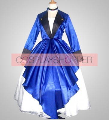 Chobits Chii Blue Lolita Cosplay Costume