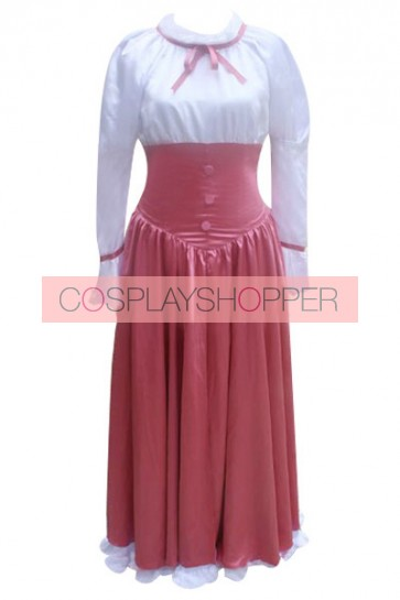 Chobits Chii Purple Red Cosplay Costume Maid Dress