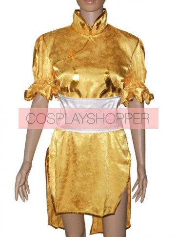 Street Fighter Yellow Chun Li Cosplay Costume