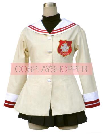 Clannad High School Sophomore Uniform Cosplay Costume