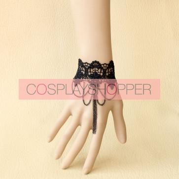 Classic Black Lace Handmade Lolita Wrist Strap