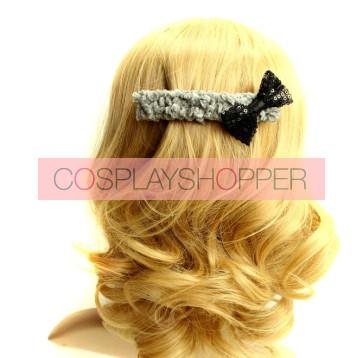 Classic Bow Girls Handmade Lolita Hairpin