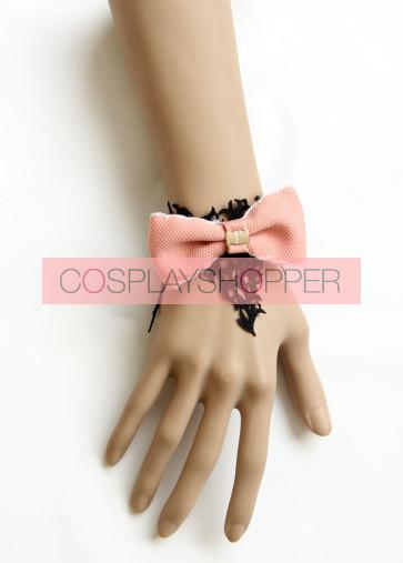 Classic Lace Pink Bow Girls Lolita Wrist Strap