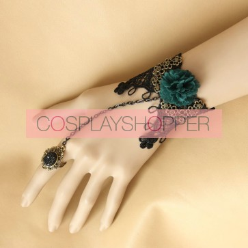 Classic Rococo Floral Lady Lolita Bracelet And Ring Set