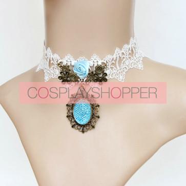 Classic White Lace Lolita Neckband
