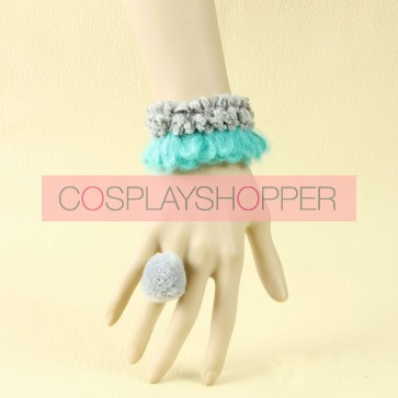 Concise Cute Girls Handmade Lolita Bracelet And Ring Set