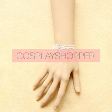 Concise Cute White Lace Office Girls Lolita Wrist Strap