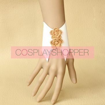 Concise Fashion Leather Floral Lolita Wrist Strap
