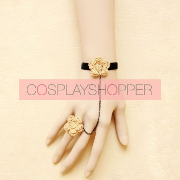 Concise Floral Little Girls Lolita Bracelet And Ring Set