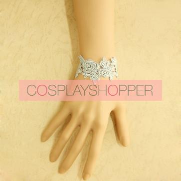 Concise Light Blue Lace Lolita Wrist Strap