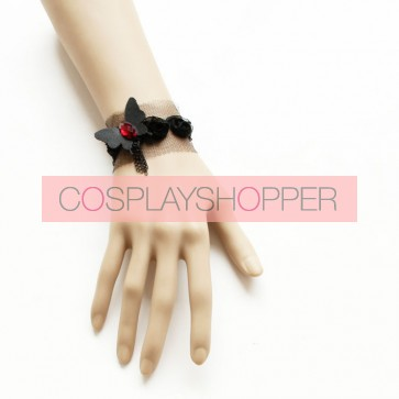 Cute Black Bow Little Girls Lolita Wrist Strap