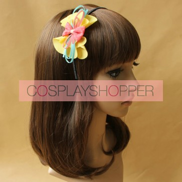 Cute Bow Floral Girls Handmade Lolita Headband