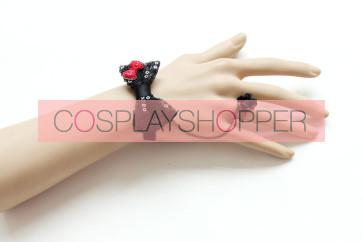 Cute Bow Little Girls Lolita Bracelet And Ring Set