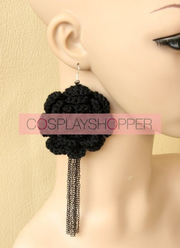 Cute Floral Girls Handmade Lolita Earrings