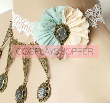 Cute Handmade Lace Floral Girls Lolita Choker