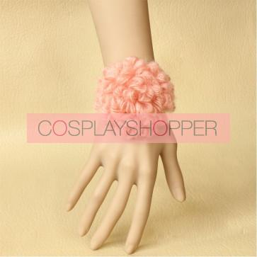 Cute Pink Floral Little Girls Lolita Wrist Strap