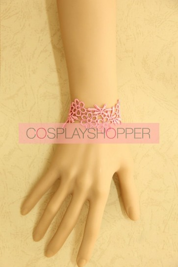 Cute Pink Lace Girls Lolita Wrist Strap