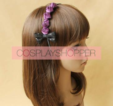 Cute Rose Bow Girls Lolita Headband