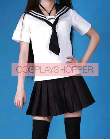 Cute Short Sleeves Girl School Uniform Cosplay Costume