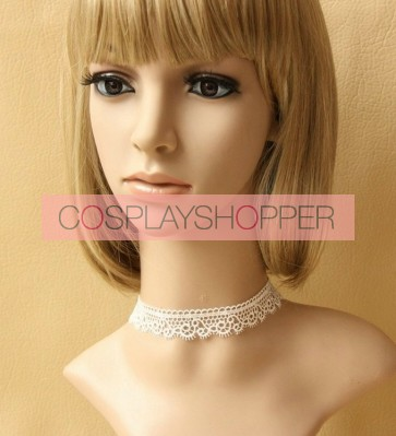Cute White Lace Lady Lolita Necklace