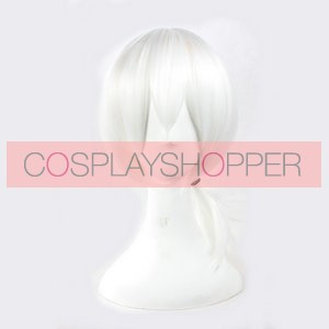 White 43cm Kagerou Project Konoha Cosplay Wig
