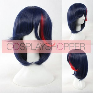 Blue 40cm Kill la Kill Ryuko Matoi Cosplay Wig