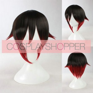 Black and Red 35cm RWBY Red Trailer Cosplay Wig