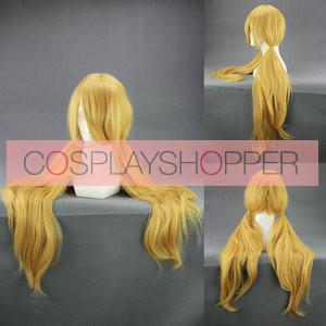 Yellow 90cm Good Luck Girl! Momiji Binbouda Cosplay Wig