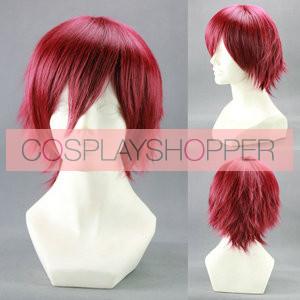 Red 35cm Mawaru Penguindrum Kanba Takakura Cosplay Wig